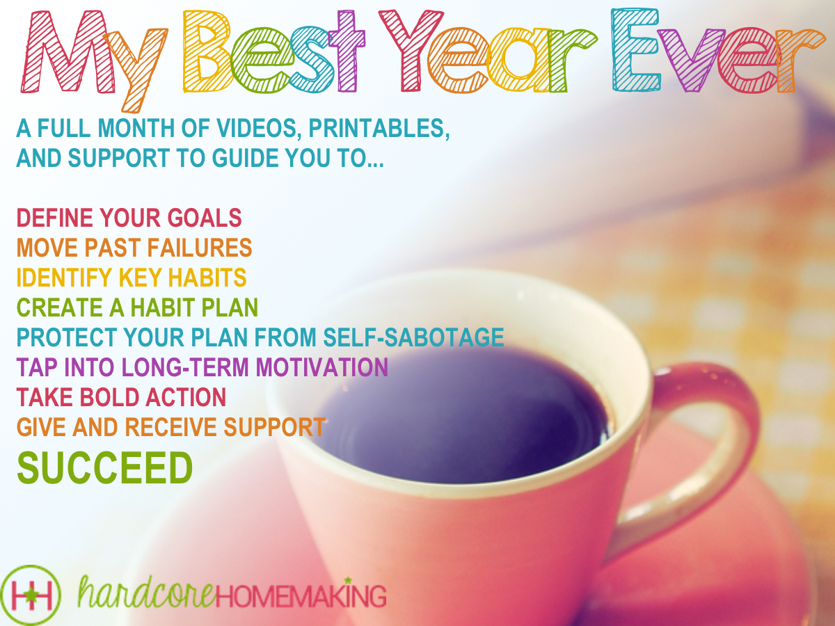 My Best Year Ever course - Succeed with your goals by developing habits that stick.